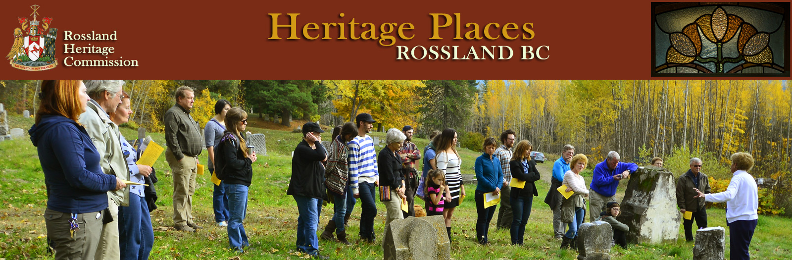 Rossland Heritage Commission - Heritage Places Banner
