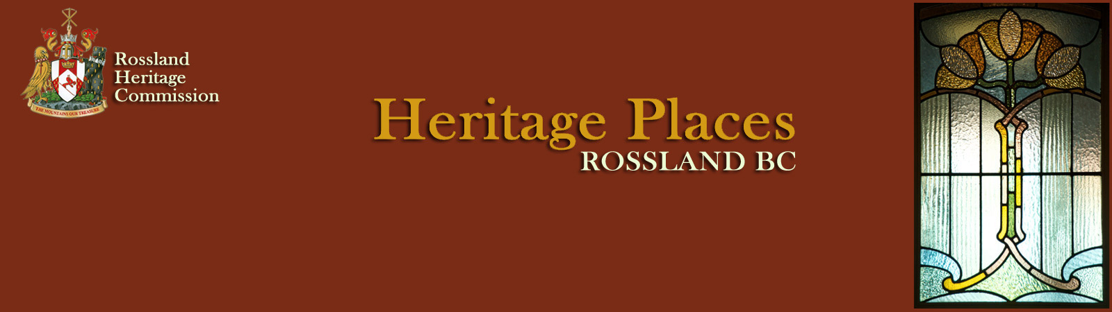 Rossland Heritage Commission - Heritage Places -main page banner