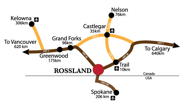 Rossland Heritage Commission Rossland map