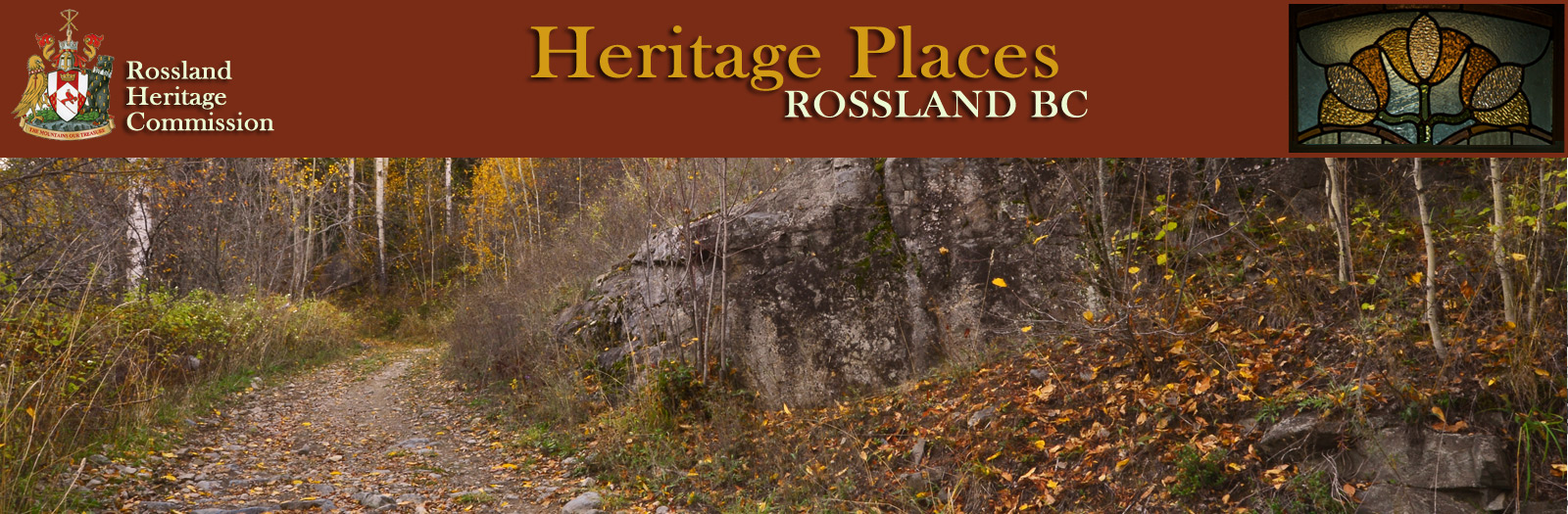 Heritage Rossland Commission - Heritage Places -Heritage Sites banner